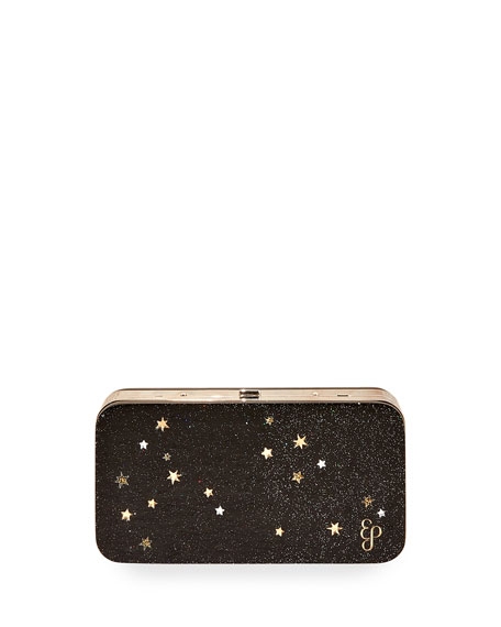 Glittered Acrylic Clutch Bag by Edie Parker