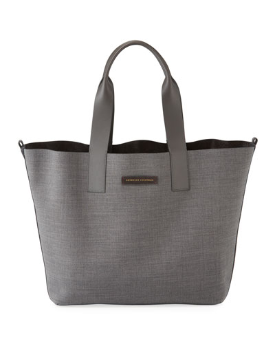 Reversible Large Wool Tote Bag
