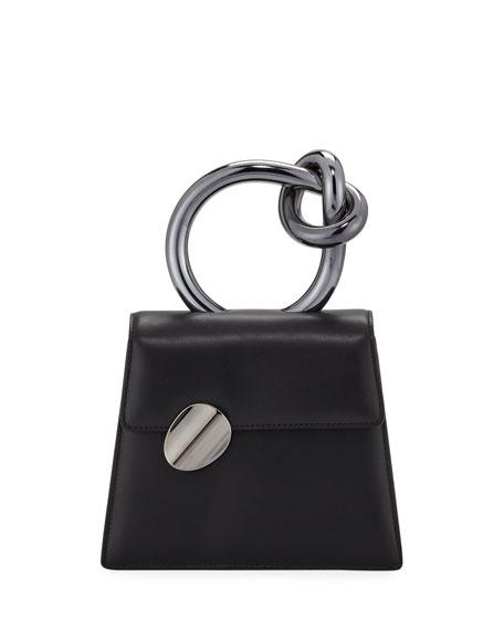 Brigitta Small Flap Top Handle Bag, Black