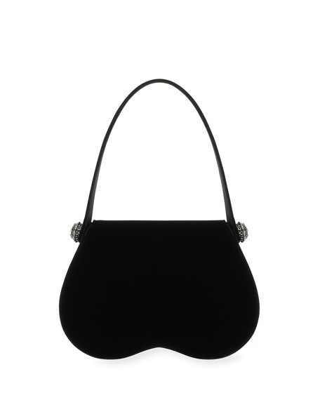 June Velvet Top-Handle Bag