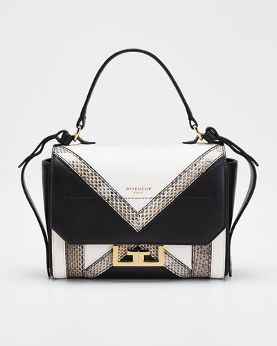 Eden Mini Colorblock Snakeskin Shoulder Bag