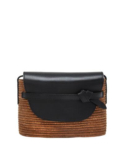 Camel Woven Crossbody Bag