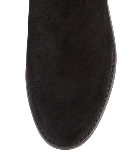 Reserve Suede Stretch-Back Knee Boots