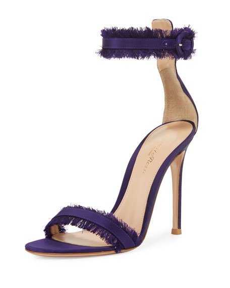 Fringed Silk Sandal