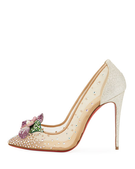 Feerica Crystal-Embellished Red Sole Pump