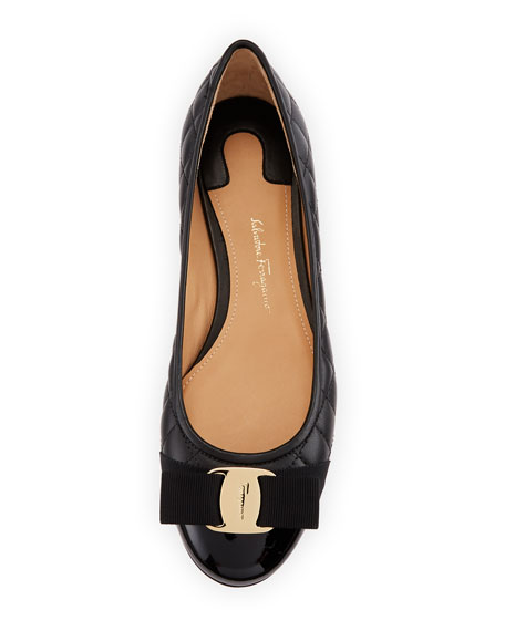 Varina Quilted Bow Ballet Flats