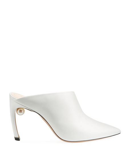 Mira Pearly Leather 90mm Mule Pump