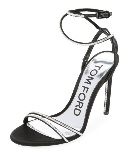 Embellished Satin 105mm Sandal