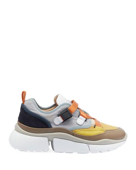 Multicolor Buckle Sneakers