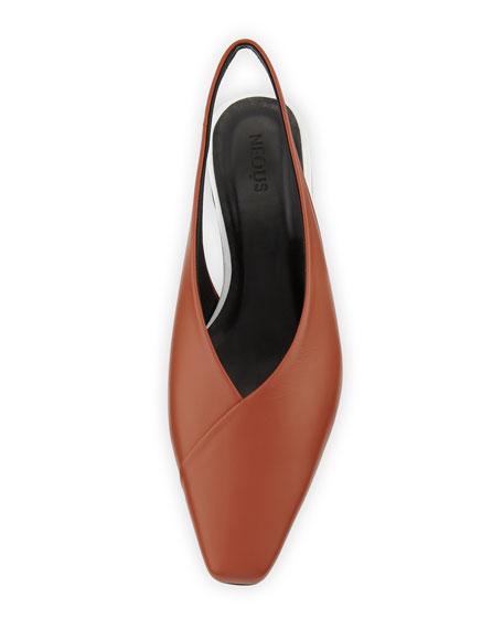 Kingia Slingback Leather Flat