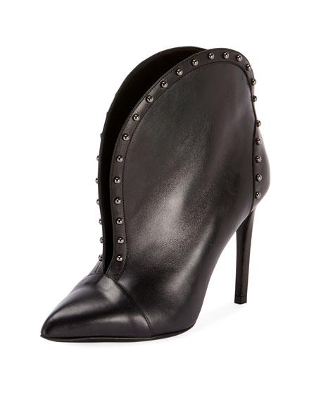 Balmain Iren Calfskin Split-Front Ankle Boot