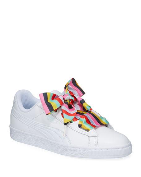 Basket Heart Gen Hustle Leather Sneakers by Puma