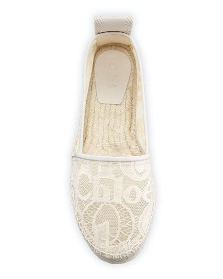 Woody Flat Logo-Lace Espadrilles