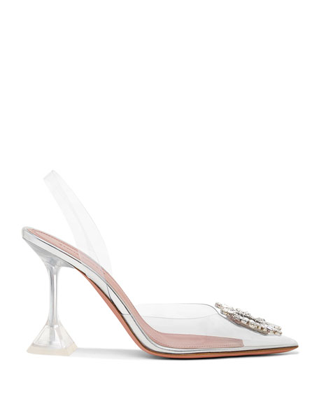 Begum Glass Transparent Sandals