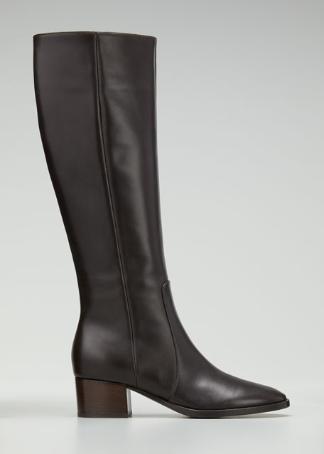 Image 1 of 1: Tall Soft Leather Knee Boots