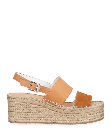 Edie Leather Slingback Platform Sandals