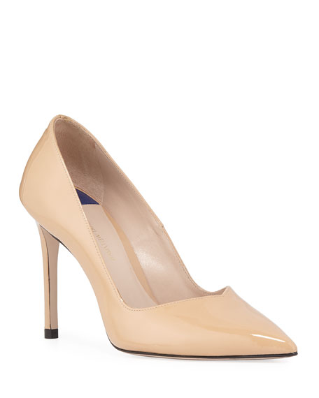 Image 1 of 1: Anny Patent Leather Stiletto Pumps