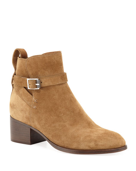 Image 1 of 1: Walker Buckle Suede Booties