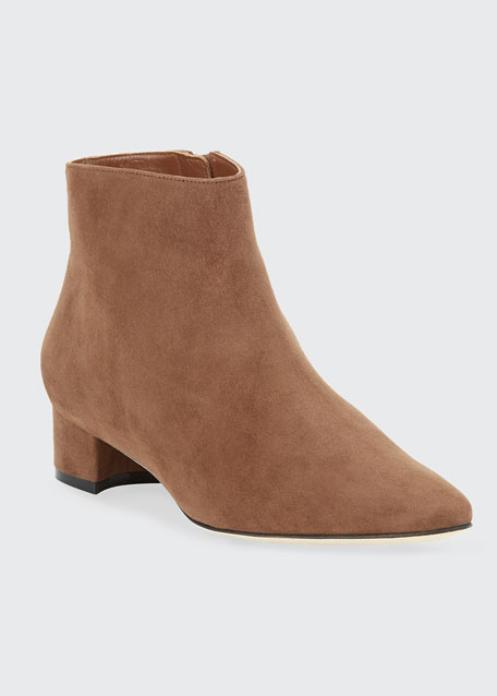 Image 1 of 1: Crik Suede Ankle Booties
