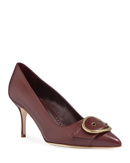 Image 1 of 1: Grigisa Leather Buckle Pumps