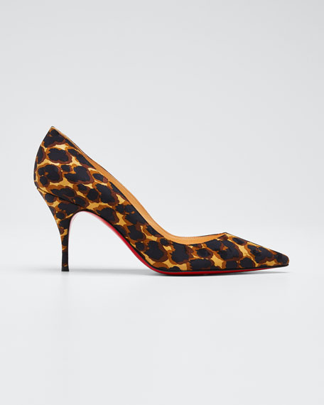 Clare Leopard Print Red Sole Pumps by Christian Louboutin