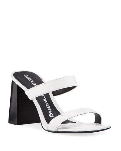 Hayden Mock-Croc Leather Sandals