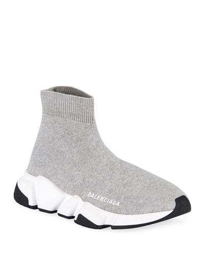 Stretch-Knit High-Top Sock Trainer