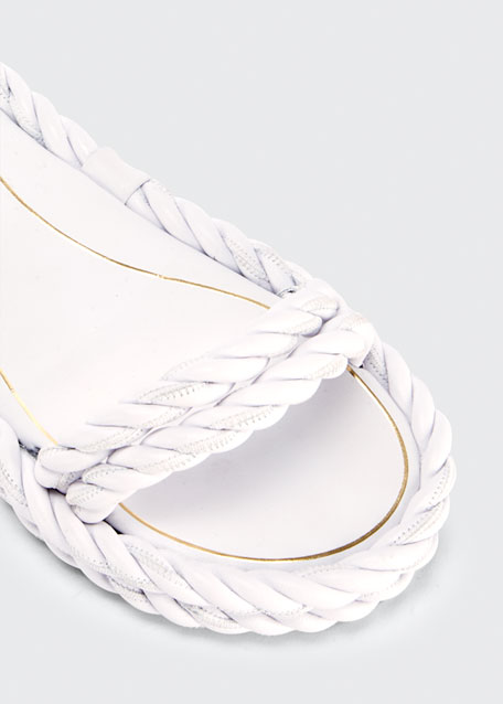 The Rope Grecian Ankle-Wrap Flat Sandals