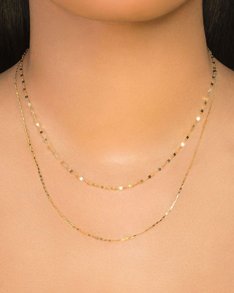 14k Tiered 2-Strand Necklace