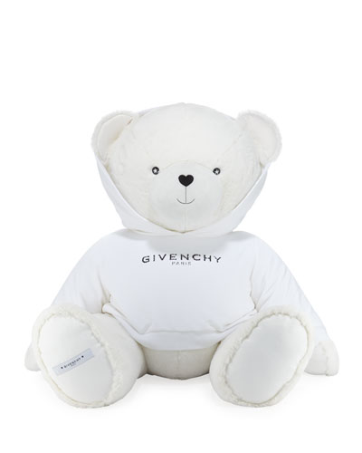 Giant Teddy Bear in Logo Sweatshirt