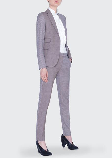 Two-Tone Slim Blazer Jacket