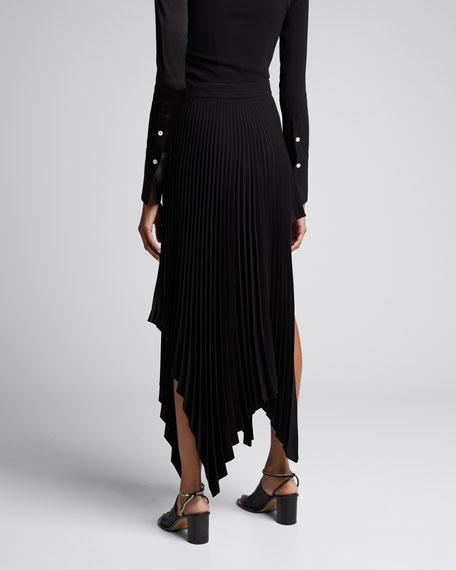Matte Shiny Slice Pleated Skirt