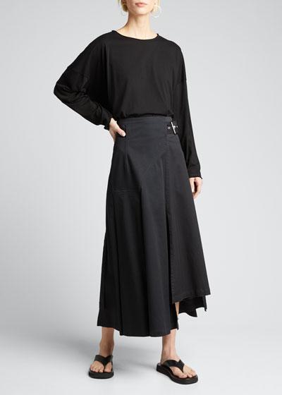 Long-Sleeve Scoop-Neck Lightweight T-Shirt