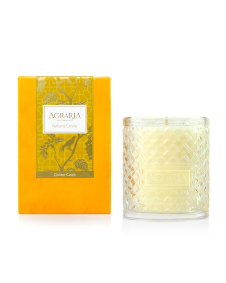 Golden Cassis Woven Crystal Perfume Candle, 7 oz.
