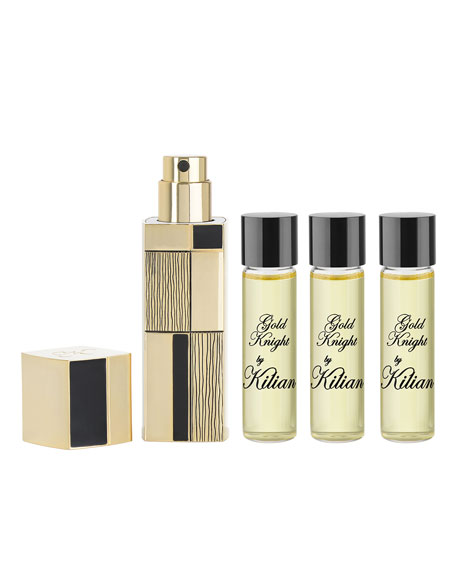 Image 1 of 1: Gold Knight Travel Spray with its 4 x .25 oz refills