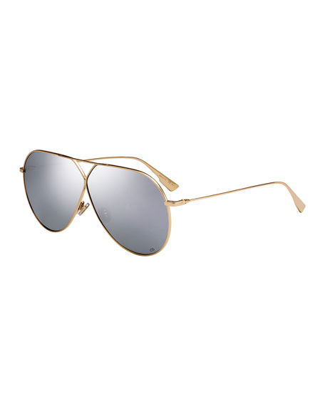 Image 1 of 1: Stell3 Mirrored Aviator Sunglasses