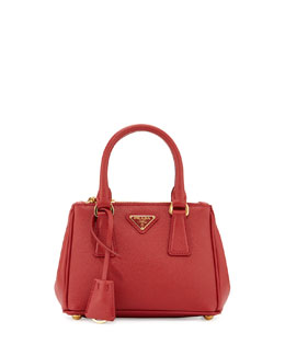Saffiano Extra-Mini Executive Crossbody Bag