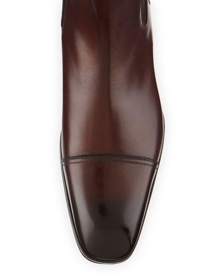 Gianni Leather Chelsea Boots
