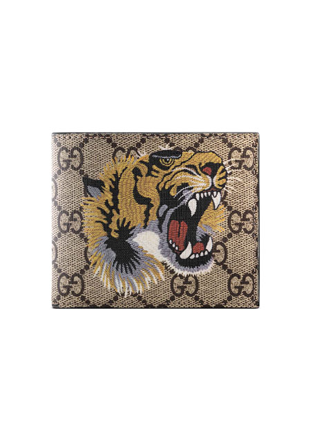 Bestiary Tiger-Print GG Supreme Wallet