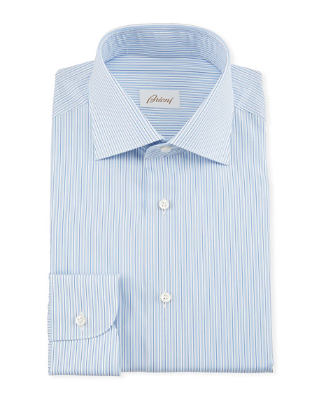 Image 1 of 1: Men's Multi-Stripe Dress Shirt