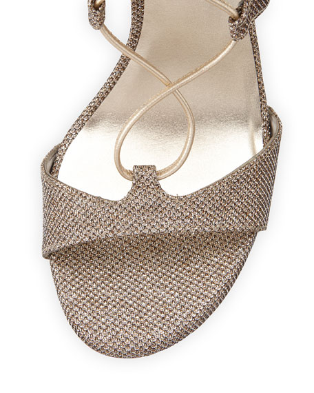 Leg-Wrap Strappy Lace-Up Sandal