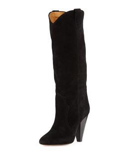 Runa Suede Western Knee Boot