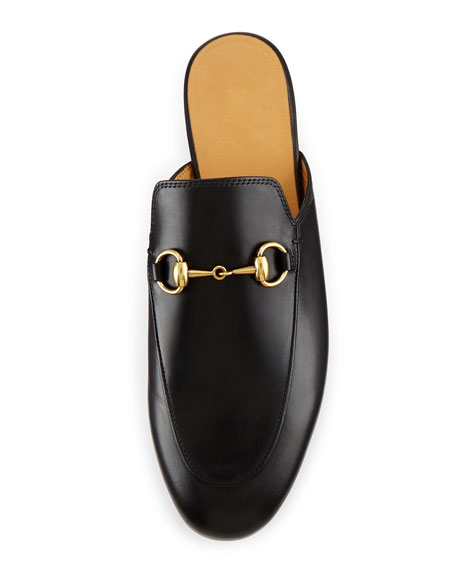 7fc9fcfad Gucci Princetown Leather Horsebit Mule Slipper Flat, Black