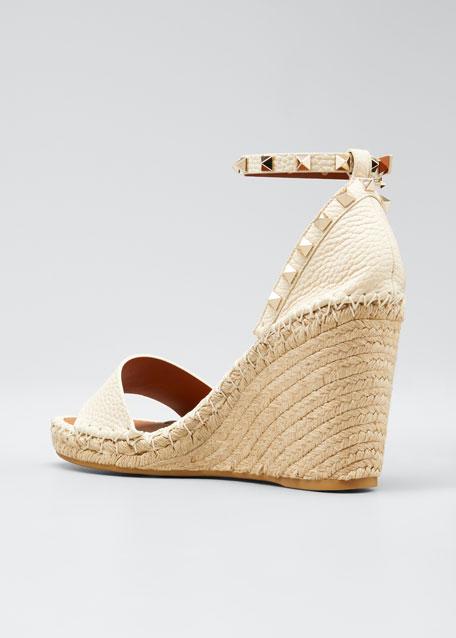 Rockstud Double Espadrille Wedge Sandals