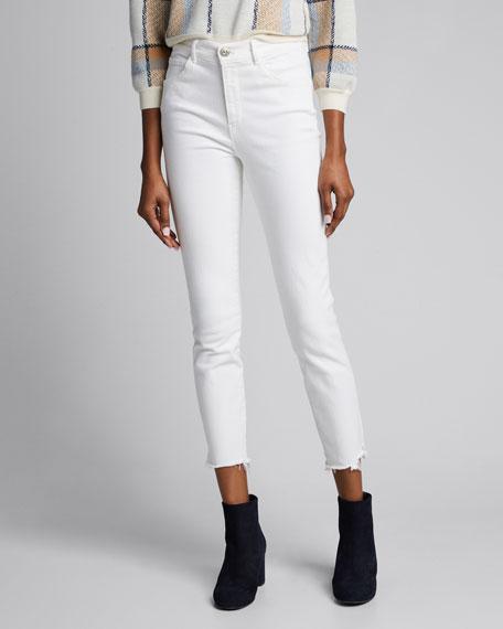 W3 High-Rise Straight Authentic Crop Jeans, Dove