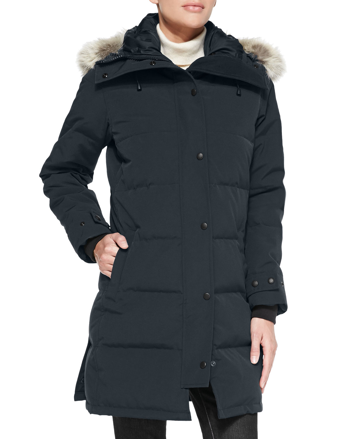 Canada Goose Coats Shelburne Parka Coat with Fur Hood