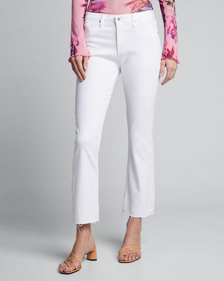 The Jodi Crop Flare-Leg Jeans with Raw Hem