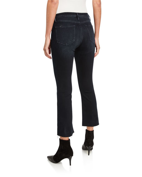 Le Crop Mini Boot-Cut Jeans with Raw Hem