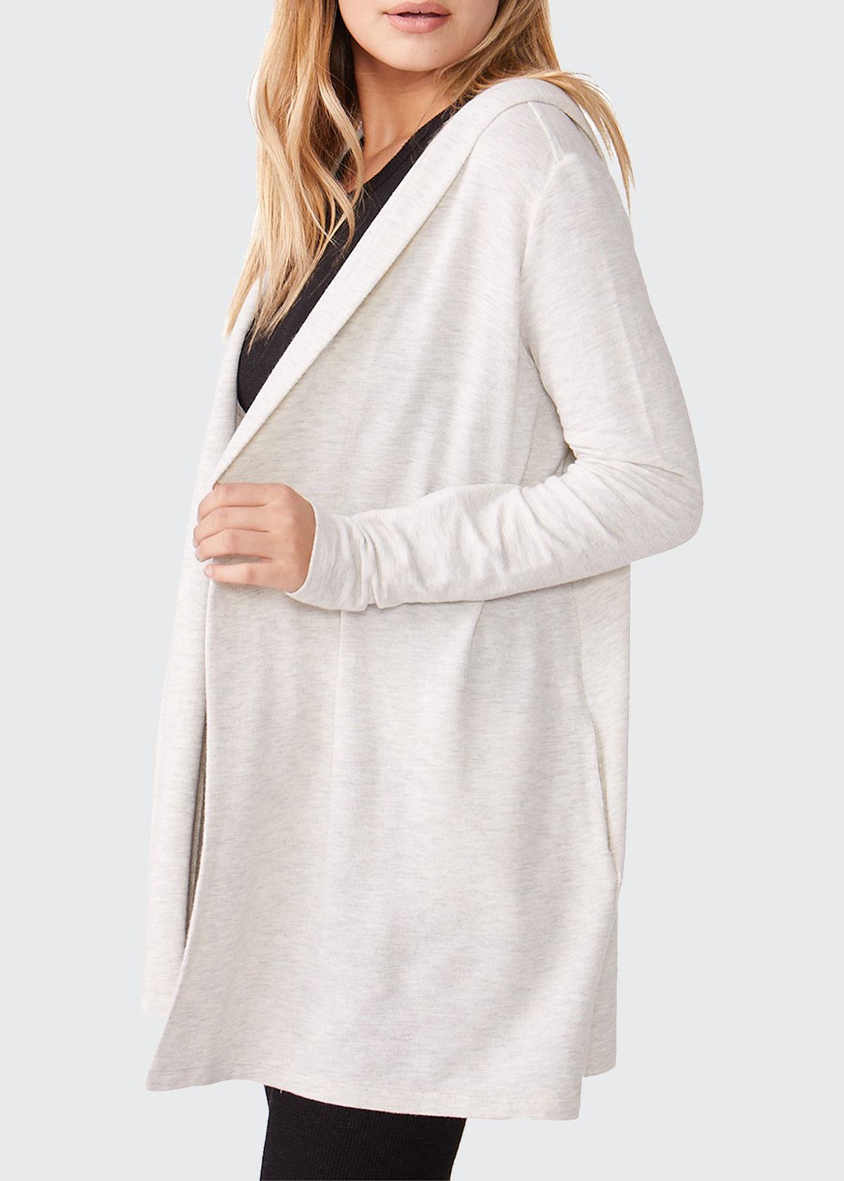 Monrow Womens Hooded Cardigan