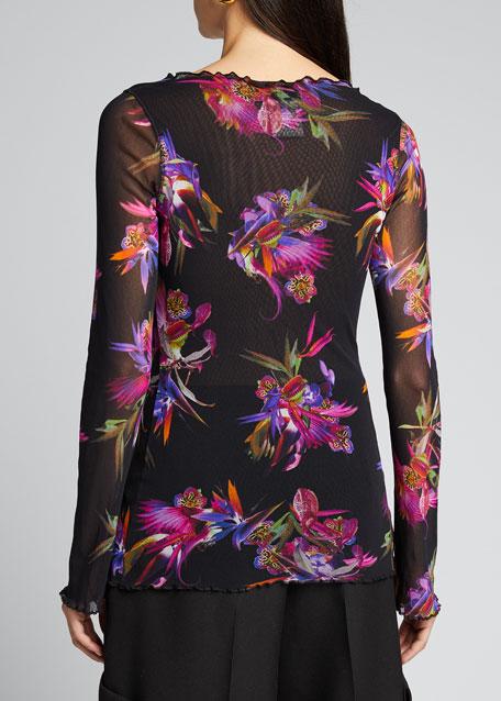 Floral Long-Sleeve Top